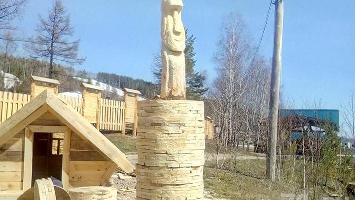 Идолы из тополя: на южноуральском курорте появятся статуи, как на острове Пасхи