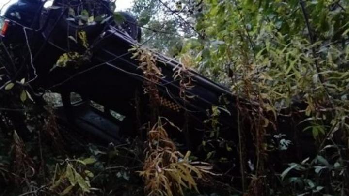 В Коношском и Приморском районах два автомобиля угодили в кювет и опрокинулись