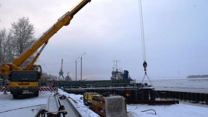 В Соломбале закончился первый этап реконструкции набережной Седова