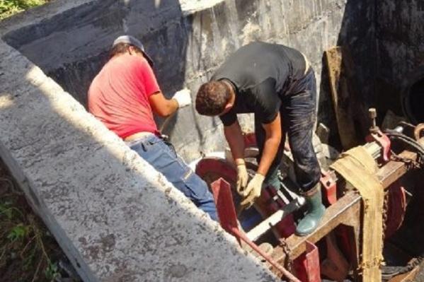 Рабочие устранили аварию