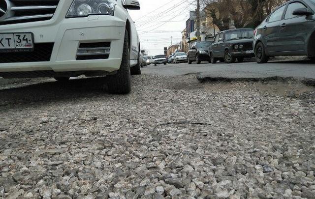 Волгоградец составил свой рейтинг дорожных опасностей города