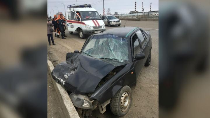 Водитель, устроивший аварию на  Добрынинском мосту, сбежал