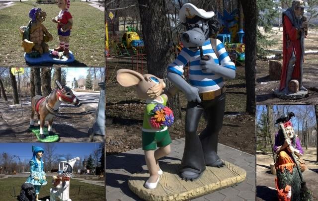 В волжском парке поселились герои сказок «Буратино» и «Ну, погоди!»