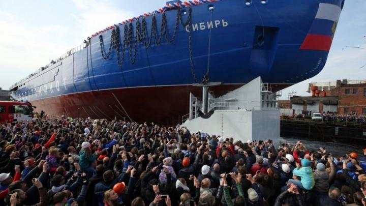 Атомоход «Сибирь» из металла Магнитки спустили на воду
