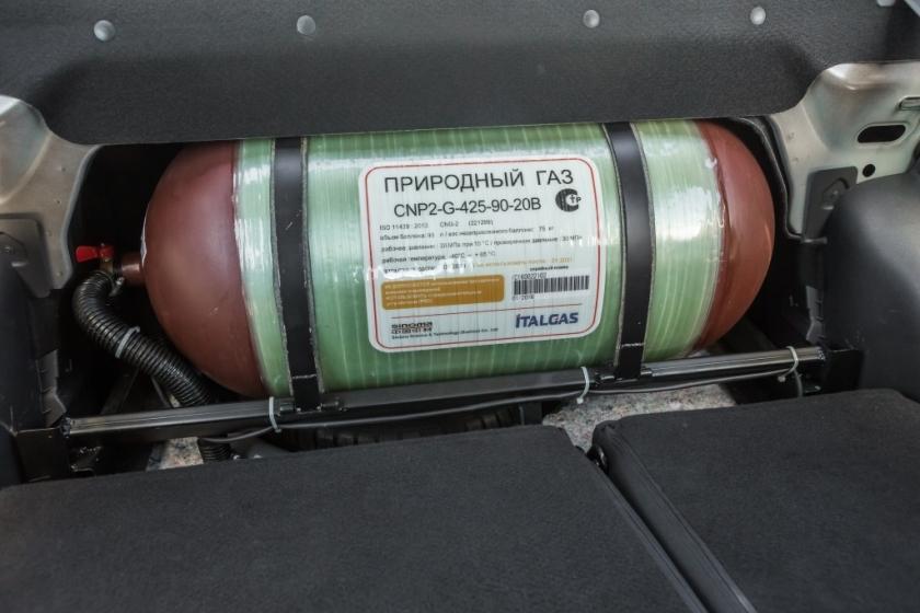 Lada Vesta CNG использует баллоны итальянской компании Italgas