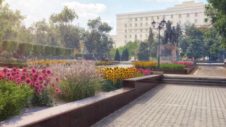 Помешал чемпионат: высадку тысячи деревьев и цветов на Площади советов перенесли на осень