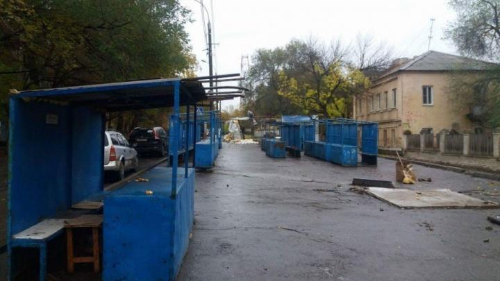 В Волгограде заканчивается снос Новороссийского рынка