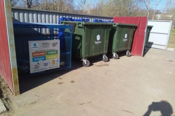 Новые мусорные контейнеры поставили в двух брагинских дворах