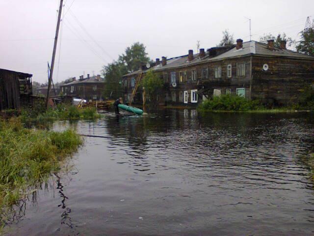 Наводнение в Беломорске
