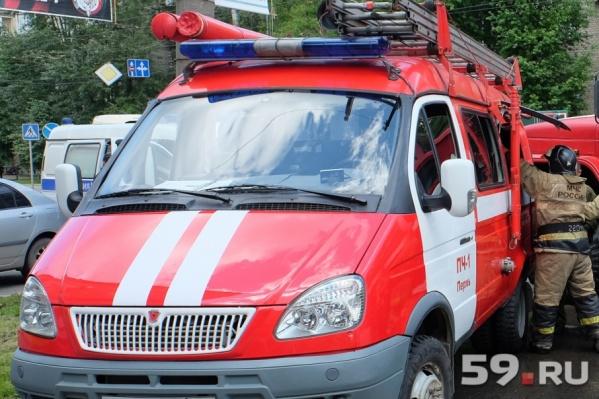 На пожаре в Заостровке пострадал 43-летний мужчина