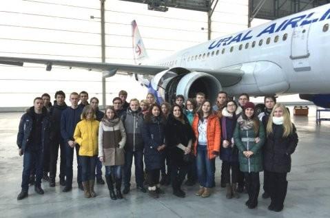 Студенты ЮУрГУ побывали на экскурсии в аэропорту Кольцово