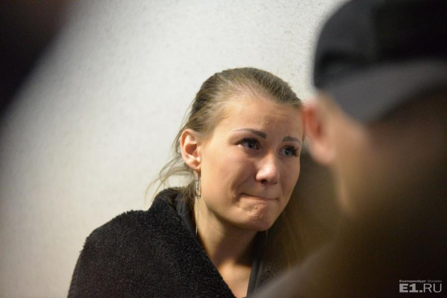Алиса Дутова в суде.