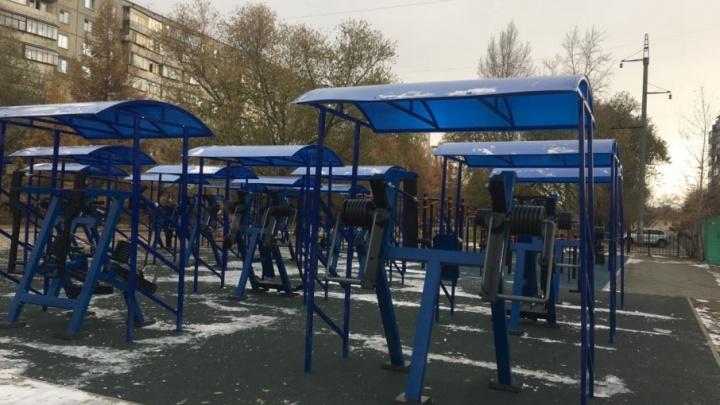 В Челябинске открыли два уличных спортзала