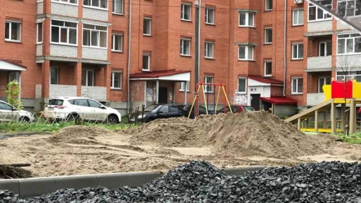 Власти пообещали завершить ремонт дворов в Соломбале к началу ноября