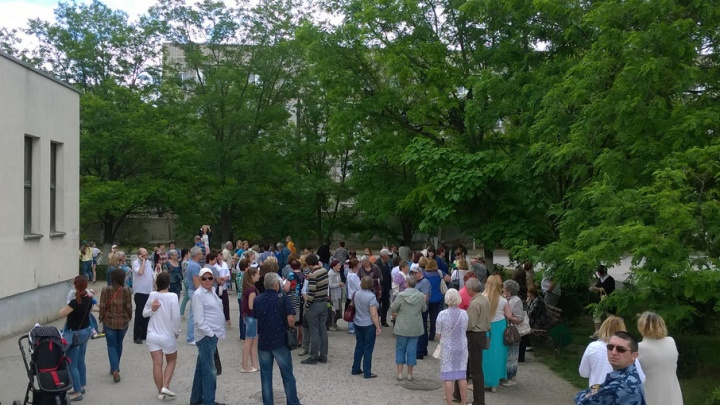 В посёлке Максима Горького прошел стихийный митинг