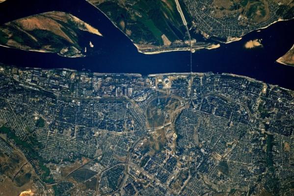 Вот так Волгоград выглядит из космоса