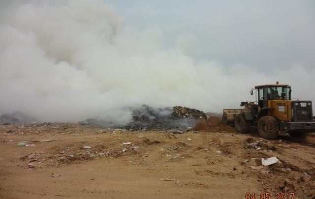Пожар на свалке в Волжском: предельных углеводородов в воздухе втрое выше нормы