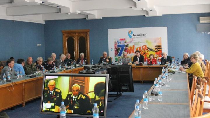 Ветераны из разных городов увиделись благодаря видеоконференции от «Ростелекома»