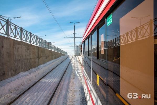 Трамвай проехал до «Самара Арены» и обратно