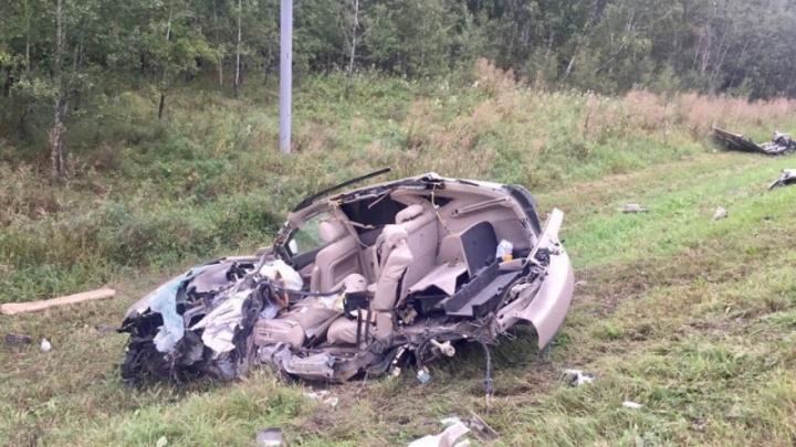 На трассе в Челябинской области в столкновении с грузовиком разбился водитель Lexus
