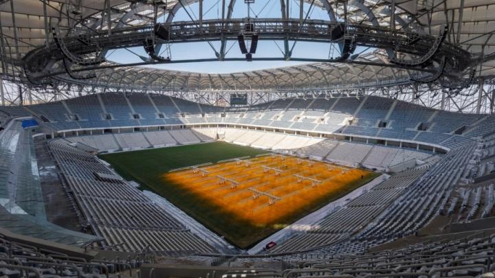 Волгоградский священник освятил новый стадион