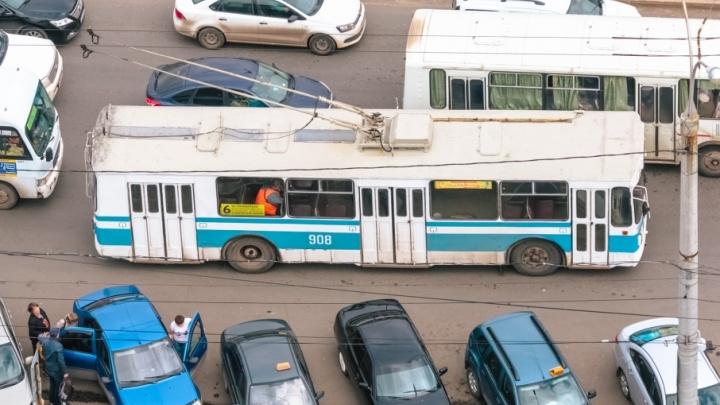В Самаре закрыли движение троллейбусов по улице Некрасовской