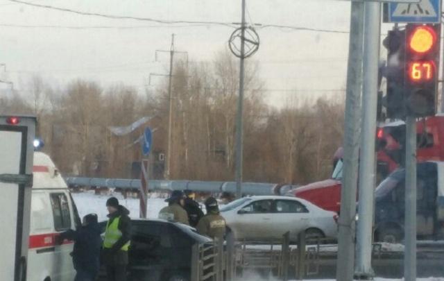 В аварии на Домостроителей пострадал водитель автомобиля Daewoo Nexia