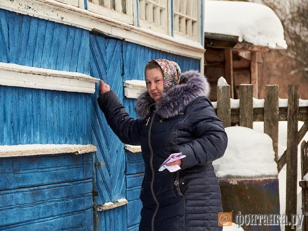 Почтальон Ксения Малкина на работе