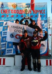 Команда СТК «Атлант» стала победителем чемпионата России по кроссу на снегоходах