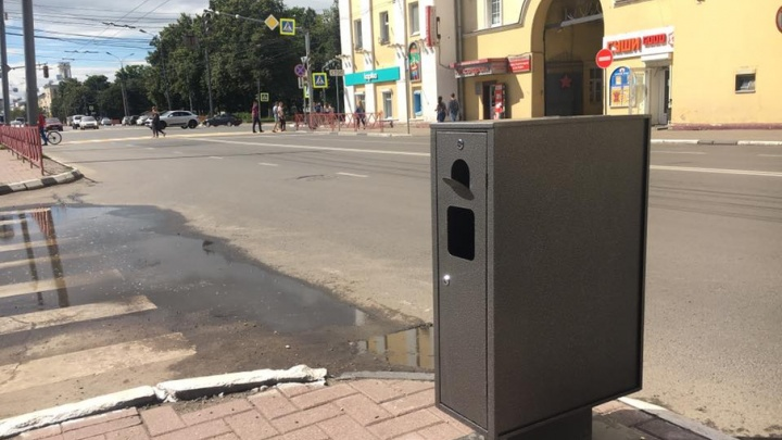 По центру Ярославля расставят мусорную рекламу