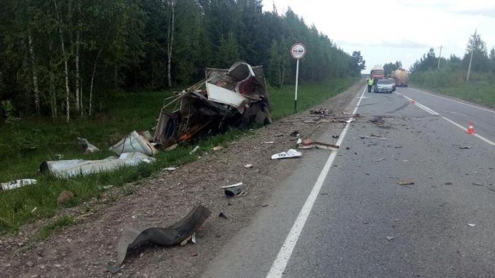 На трассе Пермь–Березники в аварии погибла женщина – водитель грузовой «Газели»