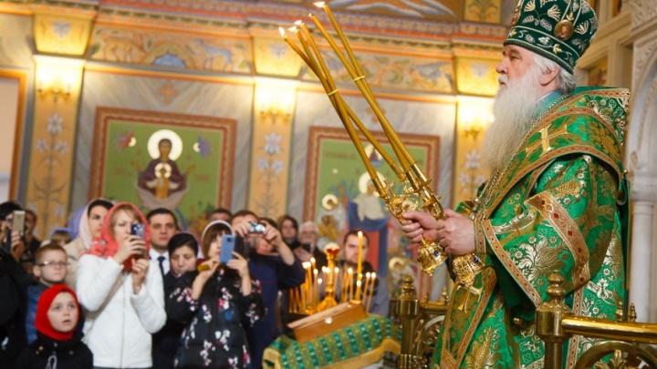 В строящемся в Волгограде храме Александра Невского пройдет первая литургия