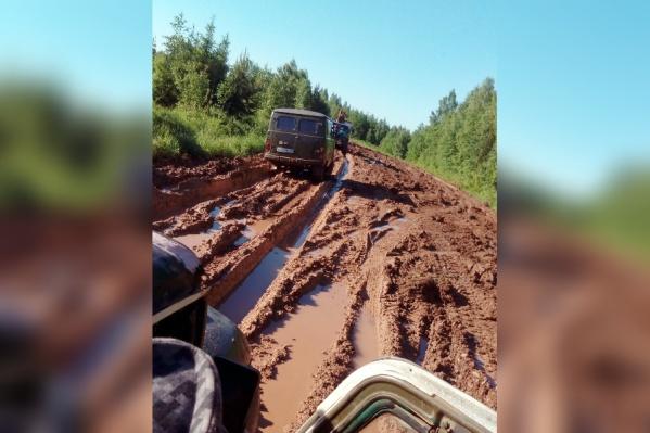 Жители Юсьвинского района жалуются на плохую дорогу