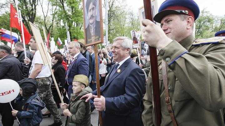 Василий Голубев присоединился к «Бессмертному полку» с фото своего деда