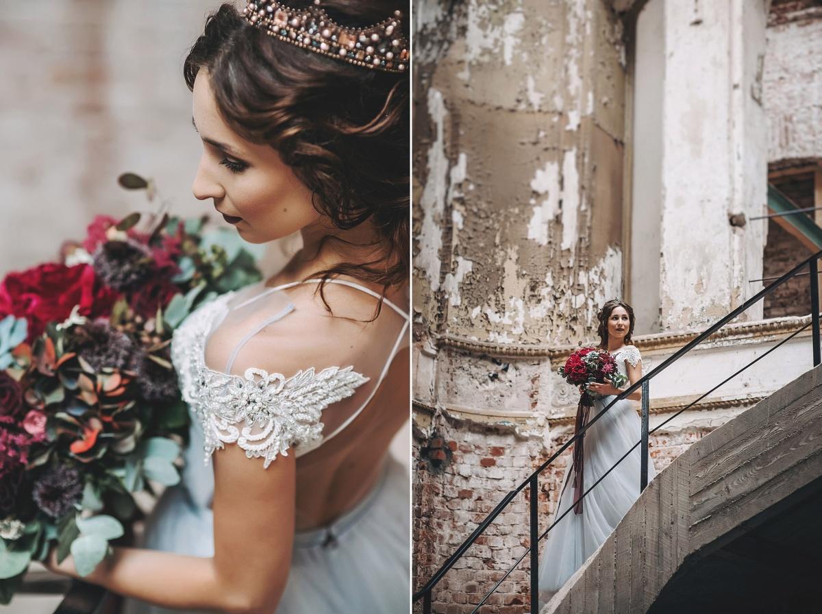Невеста была без фаты, но в симпатичной короне