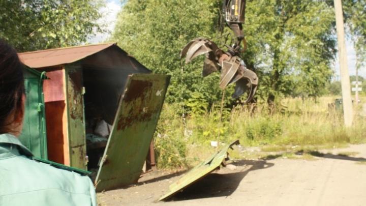 В Ярославле жильцы многоэтажки заставили женщину снести незаконный гараж