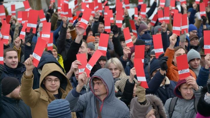 Почти 800 волгоградцев подняли мандат в поддержку Алексея Навального