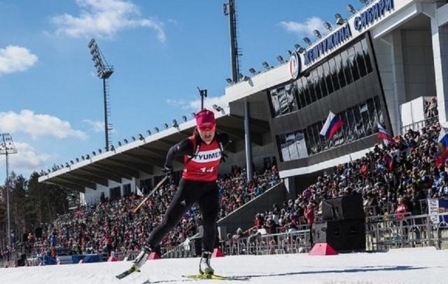Тюменская биатлонистка Ирина Услугина завоевала серебро на чемпионате России