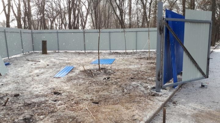 Общественники пожаловались на строящийся храм в ростовском сквере «Электроаппарат»