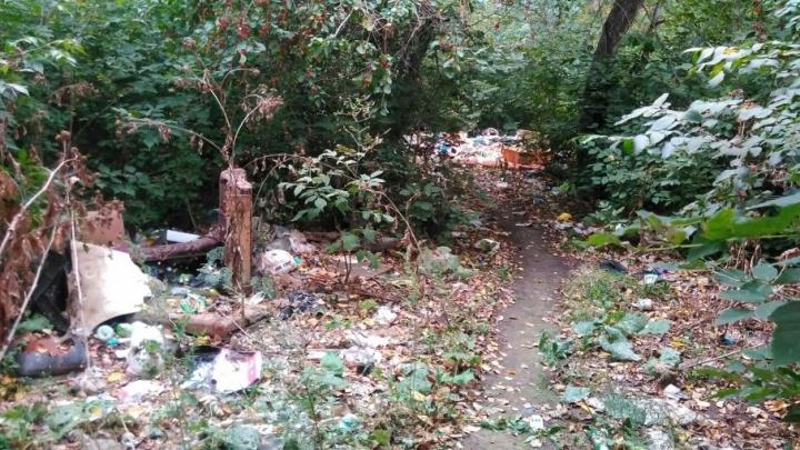 Жители негодуют: аварийные дома в Ленинском районе утопают в мусоре