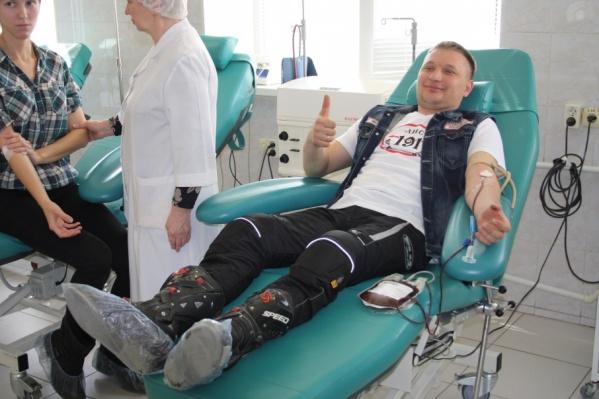 Волгоградские байкеры сдадут литры крови