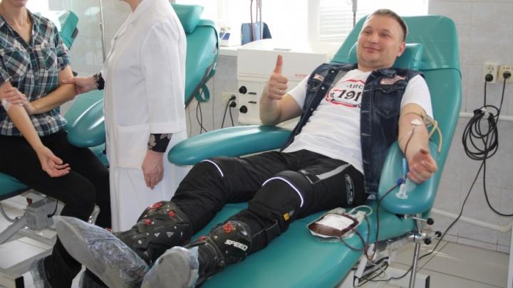 Волгоградские байкеры прольют кровь ради земляков