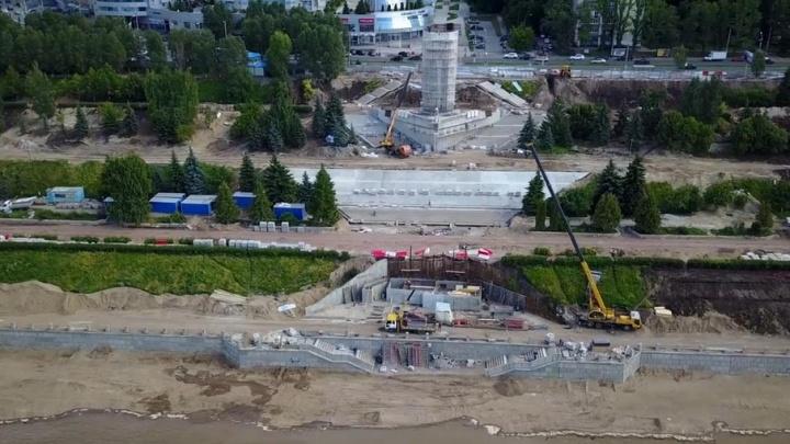 В Самаре на набережной у Ладьи начали собирать фонтан площадью 385 квадратных метров