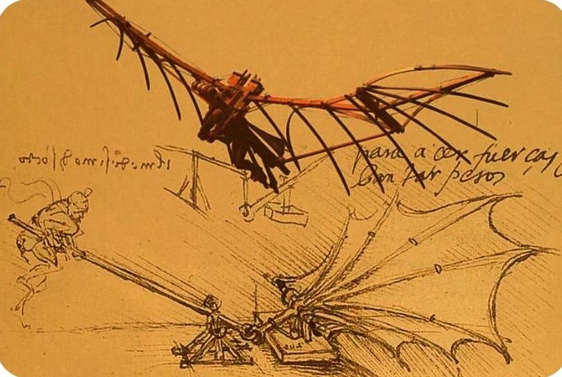 проекты летательных аппаратов Леонардо да Винчи