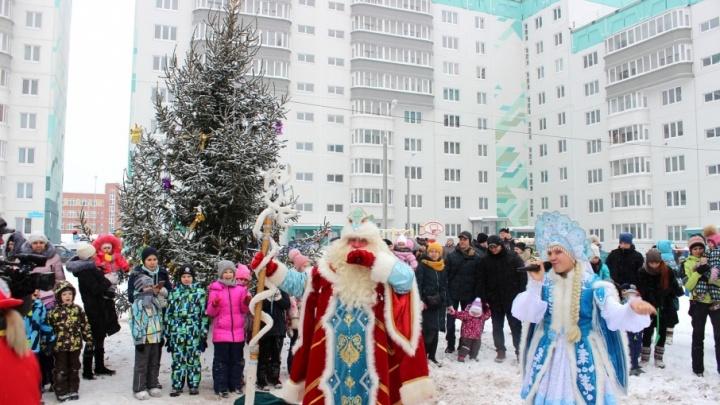 В жилых комплексах компании «СтройПанельКомплект» стартовали новогодние мероприятия