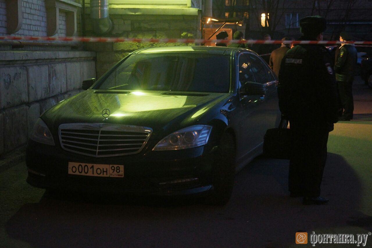 Автомобиль сенатора у места происшествия