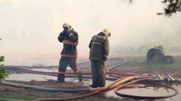 Загоревшийся дом в Брагино тушили семь часов