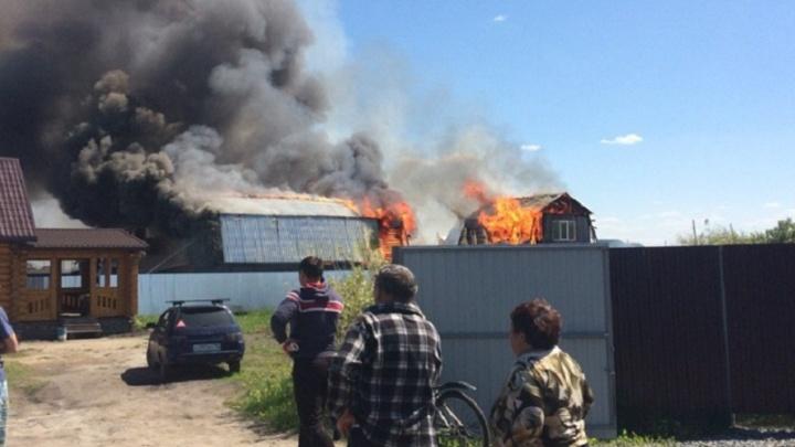 На пожаре в ДНТ «Русское поле» погибли два человека
