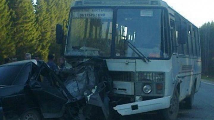В ДТП с автобусом в Устьянском районе погибли два человека