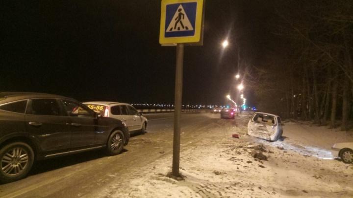 У посёлка Нефтяников произошло массовое ДТП
